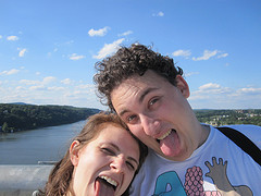 Kate and I on a bridge over the hudson