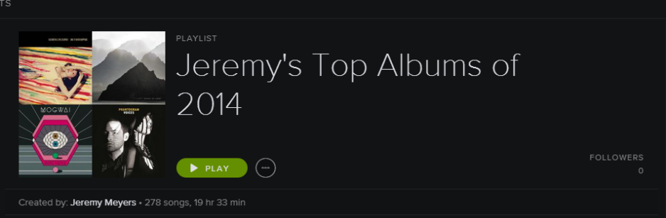 My top albums of 2014